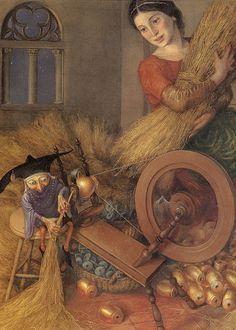links to a beautiful essay about fiber in fairy tales --- Rumpeltiltskin by Paul Zelinksy