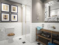 ванная комната в дизайне квартиры 68 кв. м.