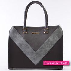 12c6cd458fd49 Szary kuferek A4 - torebka w trzech odcienia