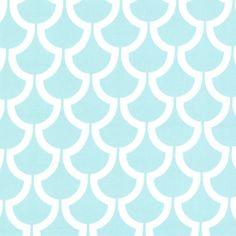WS5721 Billow trenna travis bekko collection aqua turq blue geometrics wide cotton cat