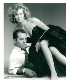 Bruce Willis and Cybil Shepard Moonlighting Photo Shoot by Annie Leibovitz