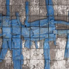 """Stan Bitters Large-Scale Ceramic Mural, """"Big Blue"""" Wall-Mounted Sculpture 