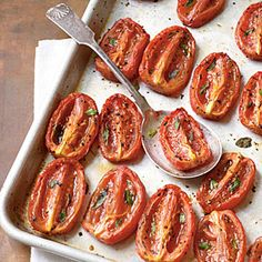 Aromatic Slow-Roasted Tomatoes | CookingLight.com #myplate #veggies