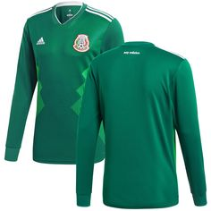 27c9a284d Mexico National Team adidas 2018 Home Replica Blank Long Sleeve Jersey -  Green