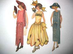 1920's Penny Ross Dolls Fashion Parade Newspaper Comic Paper Dolls (Debutantes?)