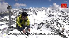 Barocook inventor Suhwan Ra explains how to use the Café Cooker while hiking the Swiss Alps.