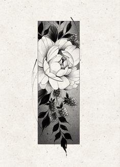 Tatoo Floral, Delicate Flower Tattoo, Floral Tattoo Design, Dibujos Tattoo, Desenho Tattoo, Medium Tattoos, Small Tattoos, Rose Tattoos, Flower Tattoos