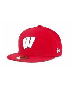 New Era Wisconsin Badgers Cap - Red New Era Logo, Wisconsin Badgers, Surf Shop, Sports Fan Shop, Mens Gift Sets, Baby Clothes Shops, Baby Shop, Pumps Heels, Kids Shop