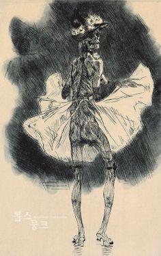 춤추는 죽음, 펠리시앙 롭스, 1865