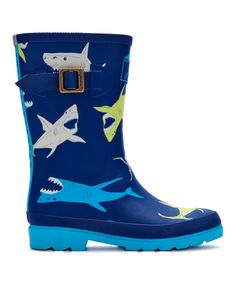 This Navy Shark Rain Boot - Kids by Joules is perfect! #zulilyfinds