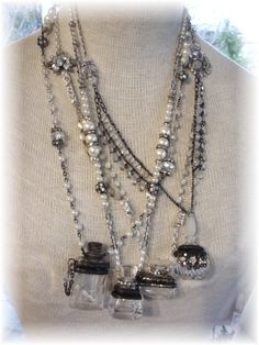 Perfume Bottle Necklace Soldered 2. $64.00, via Etsy.