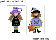 Good Witch vs Bad Witch! - Pinned by @PediaStaff – Please Visit http://ht.ly/63sNt for all our pediatric therapy pins