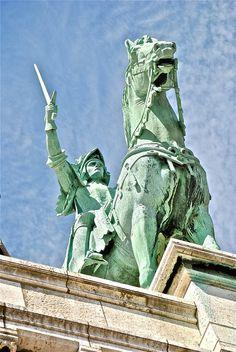 Joan of Arc, Sacré-Coeur Basilica, Paris.