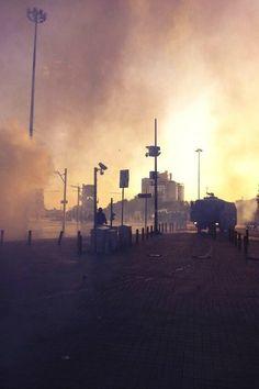 Πλατεία Ταξίμ λίγο μετά την επέμβαση της αστυνομίας στο πάρκο Gezi.