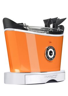 compact 2-slice toaster orange
