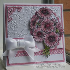 FTTC36 Pink Gerbera Daisies by Wattle - Cards and Paper Crafts at Splitcoaststampers