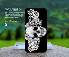 sugar skull rose for iPhone 4/4S/5 iPod 4/5 Samsung Galaxy S2/S3/S4 Case - Black / White |BestCover on Luulla