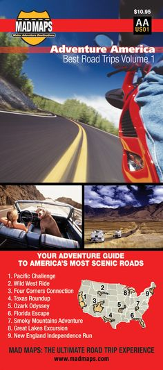 AAUS01 </br>Rides of a Lifetime Road Trip Map </br>Adventure America