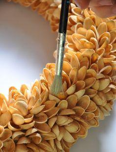 Hometalk   Faux-Succulent & Pistachio Nut Wreaths