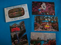some vintage postcards that Larry added some whimsy to