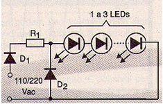 Como usar LEDs em 110 V e 220 V (ART055)