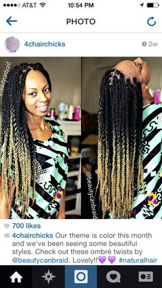 Ombré Havana twists...now that's different, never saw twist ombre-d before.