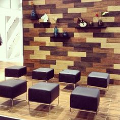 Florida Tile's Berkshire HDP High Definition Porcelain. All 5 colors combined to create a stunning feature wall!