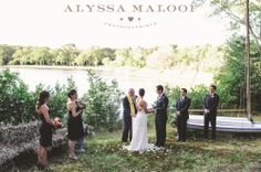 An outdoor ceremony in front of Lily Lake #museumwedding #outdoor #septemberwedding Photo by: www.alyssamaloof.com