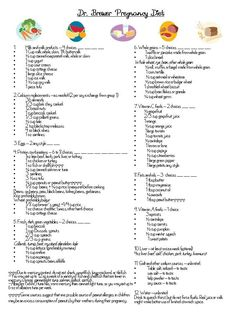 Nice outline of what the portions are that are used in the checklist  Dr. Brewer pregnancy diet.