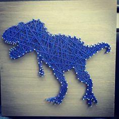 Rawr String art dinosaur