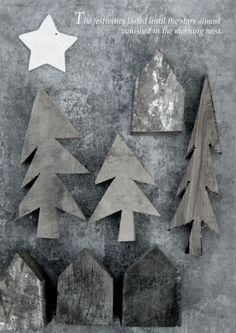 I want these for my xmas home. Maybe my dad could make the houses - maybe I could?