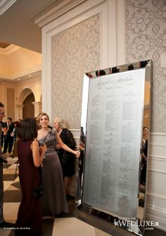 WedLuxe Magazine Wedding Guest List - just like our wedding (on a larger scale!)... :)