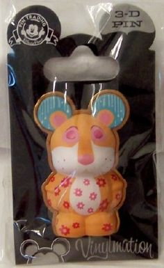 Disney 3-D Vinylmation Pin Park 4 ''it's a small world'' Leopard New On Card $19.99