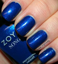Cobalt blue shimmer for the holidays :)