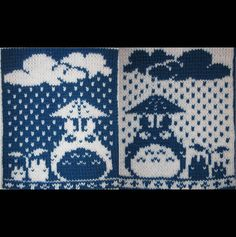 Totoro! A double knit (reversible) tapestry done by me.