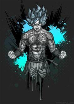 #Goku from #DragonballZ tattooed! ... #tattoo #artwork #fanart #drawing #mangaart #anime #artist #illustration #wacom #cintiq #art #photoshop#character #digitalart #graphicstablet #japanese #comicbook #comic #illustrator #dragonball #dbz #benkrefta #inked #tattooed #flash #tattooart