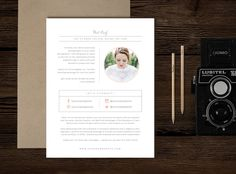 About Me Page Template - Flyers