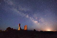 Near Balanced Rock in Arches Park, Moab, Utah.