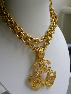 CLASSIC CHANEL TRIPLE LOGO NECKLACE - Click Image to Close