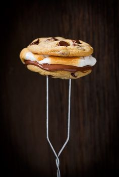Chocolate chip cookie s'mores are good for the whole family