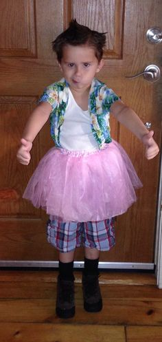 my 5 yr olds ace ventura costume for halloween