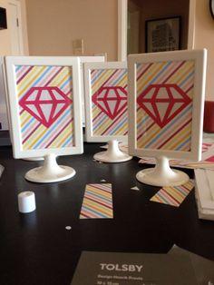 Diamond inspired signage for bridal shower. DIY