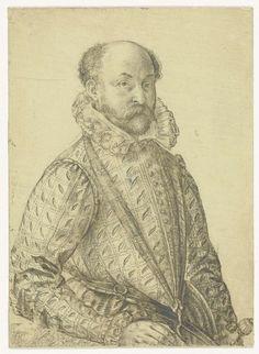 Portret van een militaire bevelhebber, Hendrick Goltzius, , 1581 - 1591