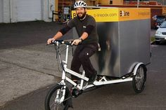 B-line Urban Delivery uses EcoSpeed electric assist to maintain consistency in their delivery schedule. They like the power to weight ratio of the EcoSpeed mid-drive and haul up to 500 pounds of goods. In Portland, OR Electric Bike Motor, Brad Davis, Local Delivery Service, Power To Weight Ratio, B Line, Cargo Bike, Save The Planet, American Made, Evolution
