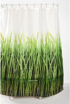 Grasses Shower Curtain from Urban Outfitters. LOVE.