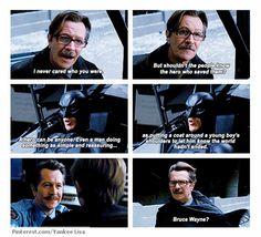 One of the best bits from the film The Dark Knight Rises. The Dark Knight Trilogy, The Dark Knight Rises, Dark Knight Rises Quotes, Dc Comics, Nananana Batman, I Am Batman, Batman Stuff, Dc Memes, The Villain