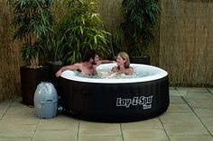 Lay Z Spa Miami Inflatable Hot Tub With A Couple. Ein Aufblasbarer Whirlpool  ...