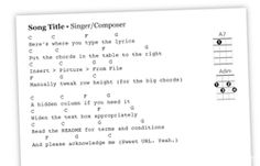 Ukulele - One hundred and sixty eight fingering diagrams from the book (in JPEG format) and a Word template (US Letter or A4). Perfect for assembling your own group's songbook.