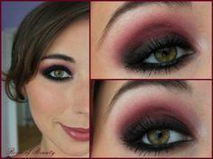 Rote Smokey Eyes