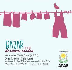 Convite para bazar continue vendo...